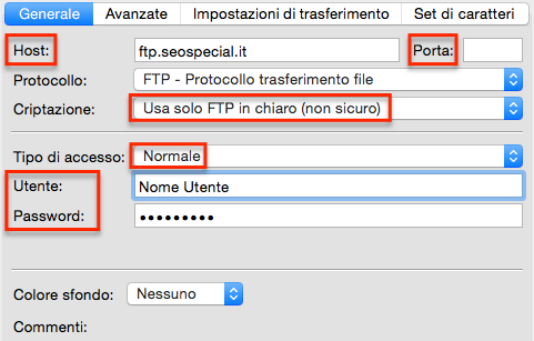 come connettersi al web server