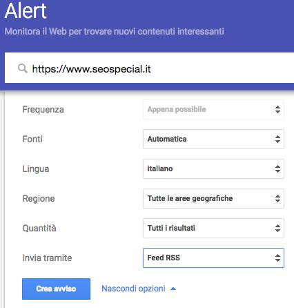 Come configurare Google Allert