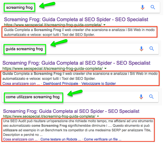 meta description in SERP