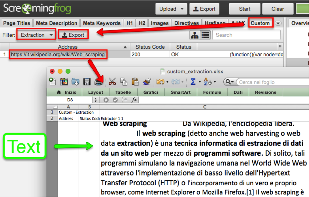 Tecnica di Screaping con Screaming Frog