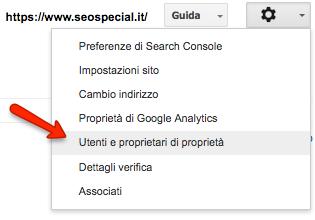 Utenti proprietari della Search Console